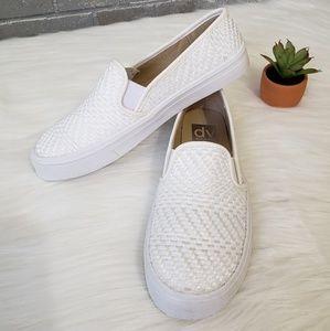 DV weave slip on sneakers